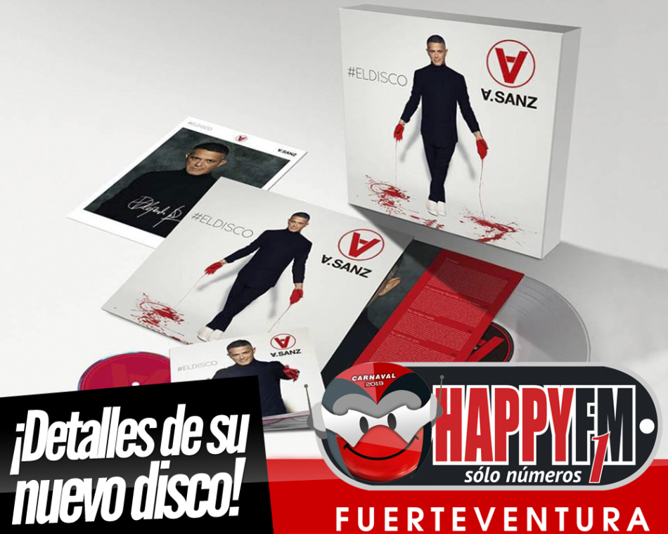 """Alejandro Sanz publica los detalles de su próximo disco """"El Disco"""""""