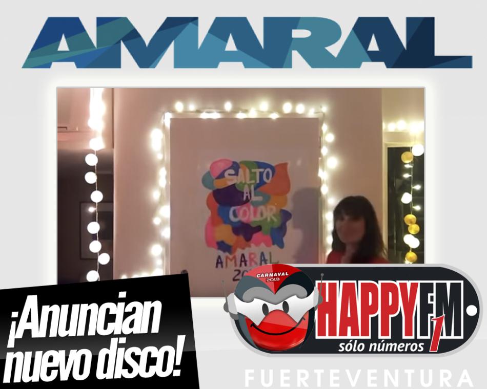 Amaral anuncia nuevo disco para 2019