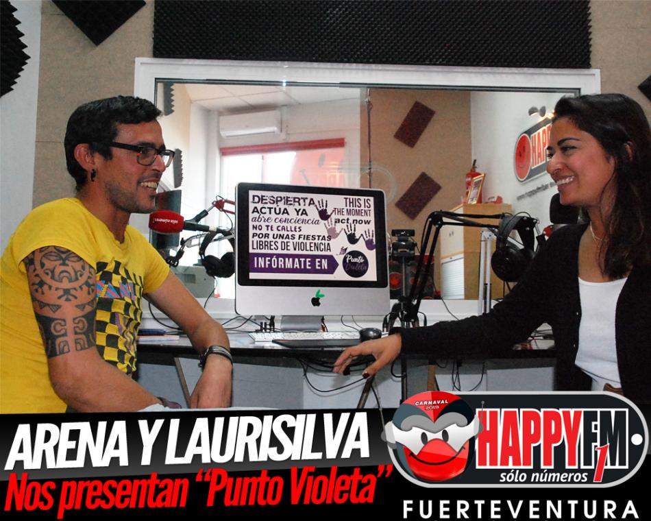 """Karishma y Jimmy de Arena y Laurisilva nos hablan de la iniciativa """"Punto Violeta"""""""