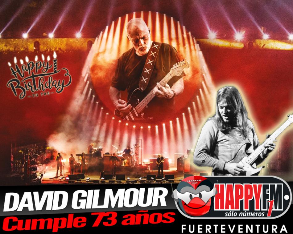 David Gilmour, guitarrista de Pink Floyd, cumple hoy 73 años