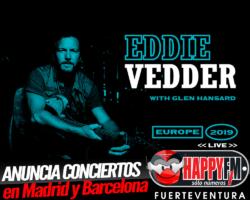 Eddie Vedder anuncia conciertos en Madrid y Barcelona
