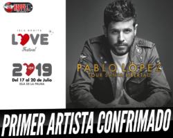 Pablo López en el Isla Bonita Love Festival 2019