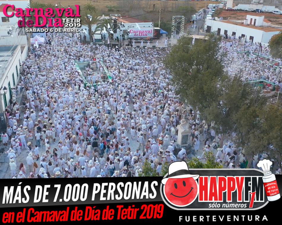 Más de 7.000 personas en el Carnaval de Día de Tetir 2019