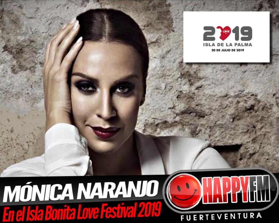Mónica Naranjo estará en el Isla Bonita Love Festival 2019 y anuncia nuevo disco