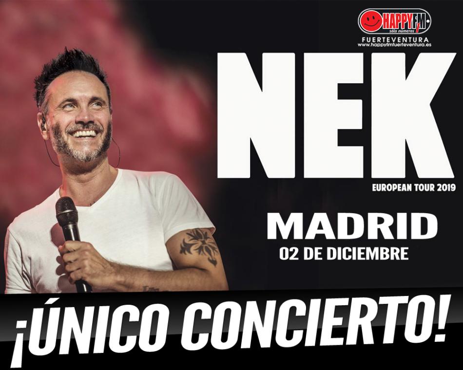 Nek anuncia gira internacional con una única cita en nuestro país