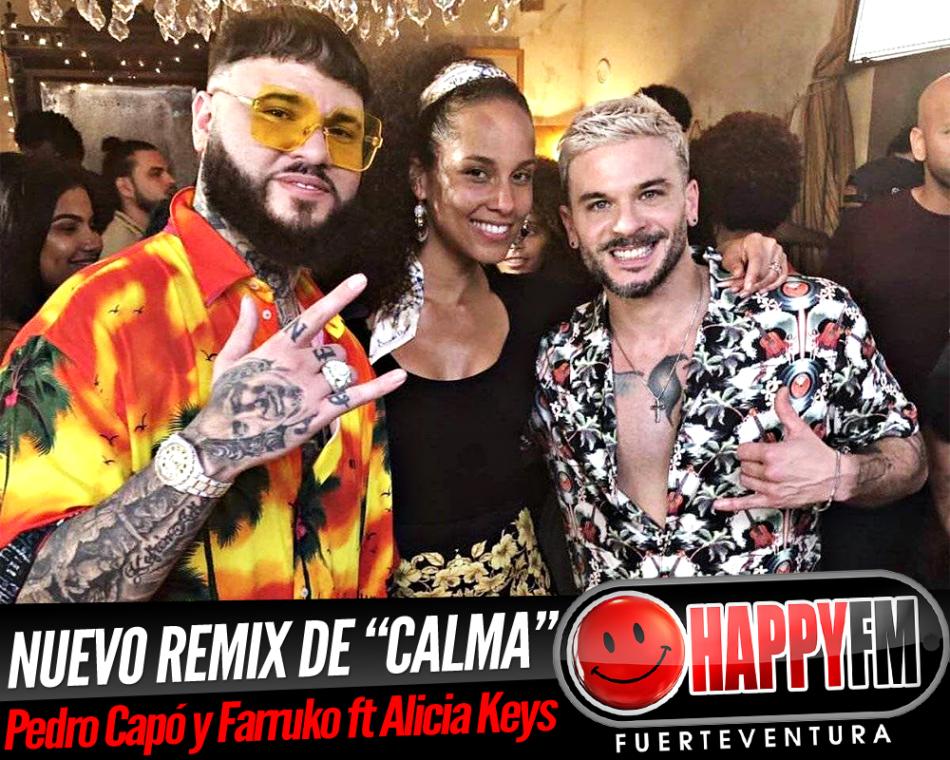 """Pedro Capó y Farruko publican nuevo remix de """"Calma"""" junto a Alicia Keys"""