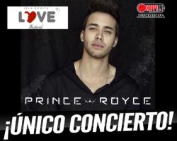 Prince Royce ofrecerá un único concierto en nuestro país y será en el Isla Bonita Love Festival 2019