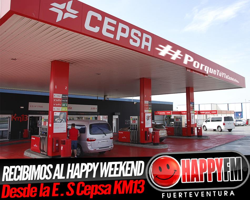 Recibimos al happy weekend en la Estación de Servicio Cepsa Km 13…porque nos apetece