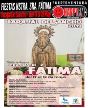 Fiestas en honor a Nuestra Señora de Fátima 2019: Del 17 al 19 de Mayo