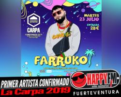 Farruko es el primer artista confirmado de La Carpa 2019
