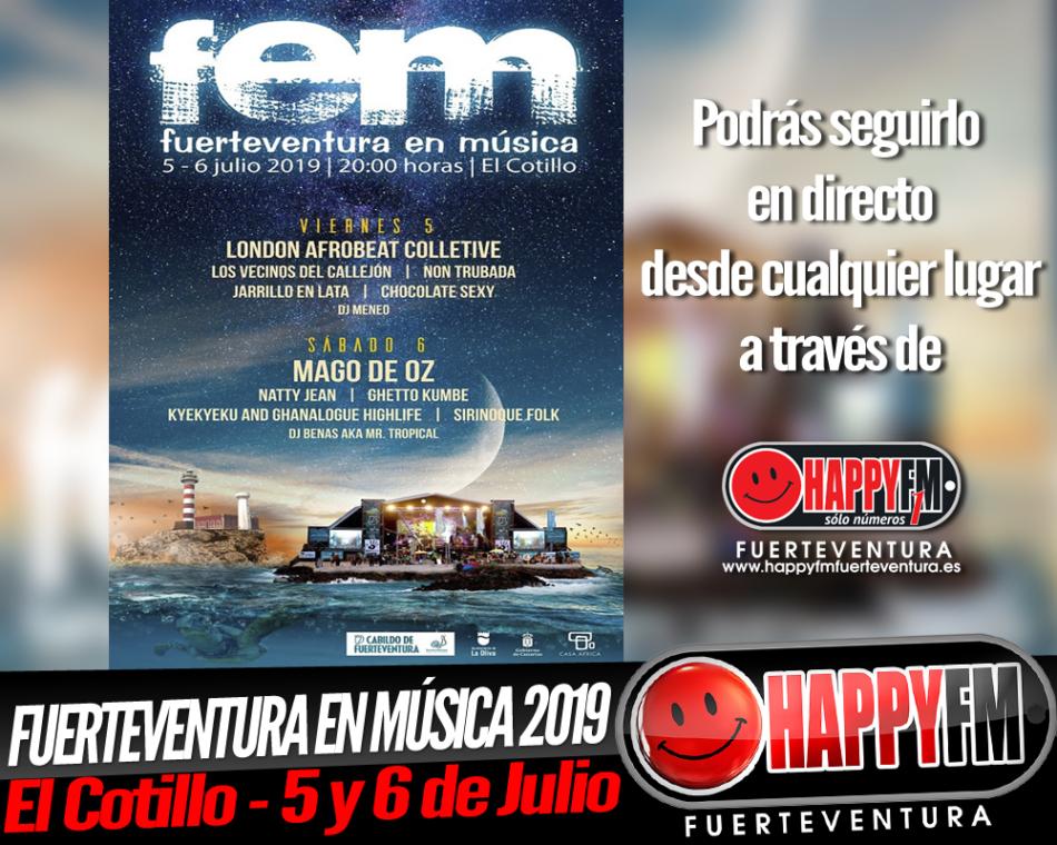 Fuerteventura En Música 2019: 5 y 6 de Julio en la playa de La Concha en El Cotillo