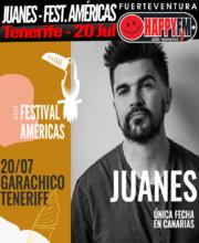 Único concierto de Juanes en Canarias: Festival Américas de Garachico (Tenerife)