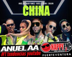 """""""China"""" de Anuel AA número uno directo"""