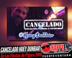 Cancelado el concierto de Huey Dunbar en Pájara