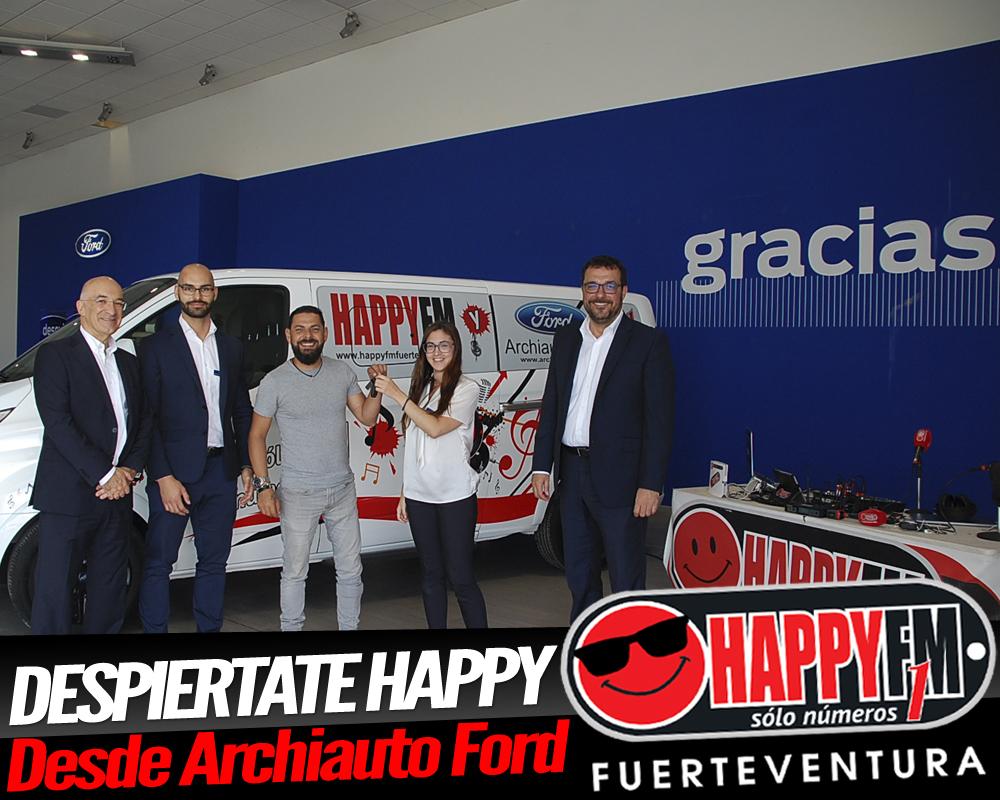 Octavo cumpleaños de Happy FM Fuerteventura desde Archiauto Ford Fuerteventura.