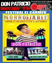 Don Patricio en el Festival El Carmen en Morro Jable