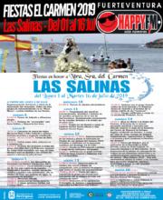 Fiestas en honor a Nuestra Señora del Carmen 2019 en Las Salinas: del 01 al 16 Jul
