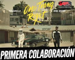 """Disponible """"One Thing Right"""", la primera colaboración entre Marshmello y Kane Brown"""