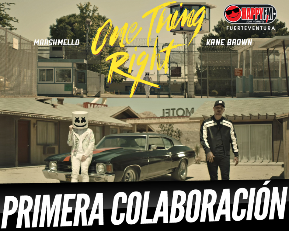 "Disponible ""One Thing Right"", la primera colaboración entre Marshmello y Kane Brown"