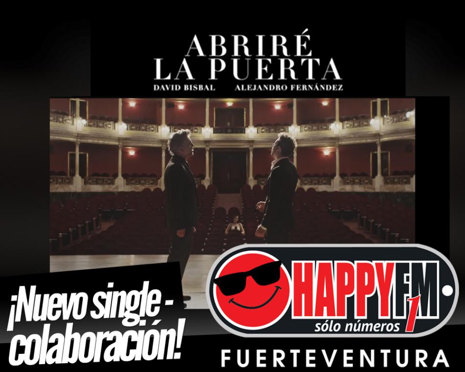 David Bisbal estrena «Abriré La Puerta», la colaboración con Alejandro Fernández