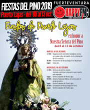 Fiestas en honor a Nuestra Señora del Pino 2019 en Puerto Lajas: Del 08 al 13 de Octubre