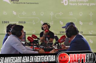 Despiértate Happy desde el aeropuerto de Fuerteventura con motivo del 50 aniversario Aena en la isla