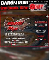 Gira de despedida de Barón Rojo en Gran Canaria