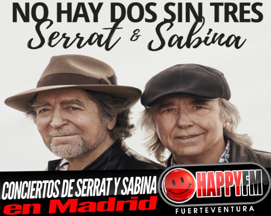 La gira de Serrat y Sabina «No Hay Dos Sin Tres», pasará por Madrid