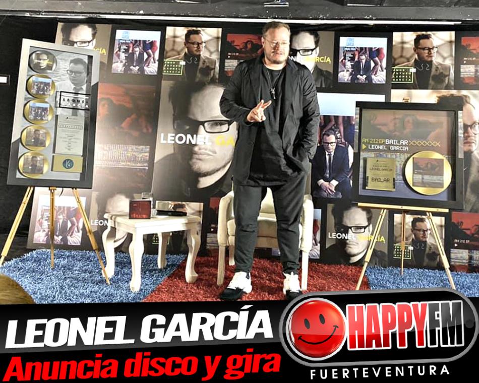 Leonel García anuncia nuevo disco y gira