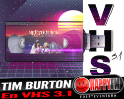 Conocemos un poco más a Tim Burton y su peli «Beetlejuice» en VHS 3.1
