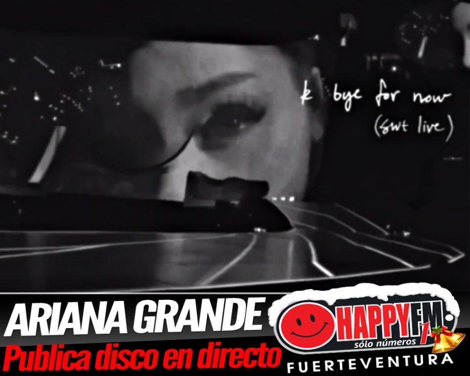 Ariana Grande publica un disco en directo titulado 'k bye for now'