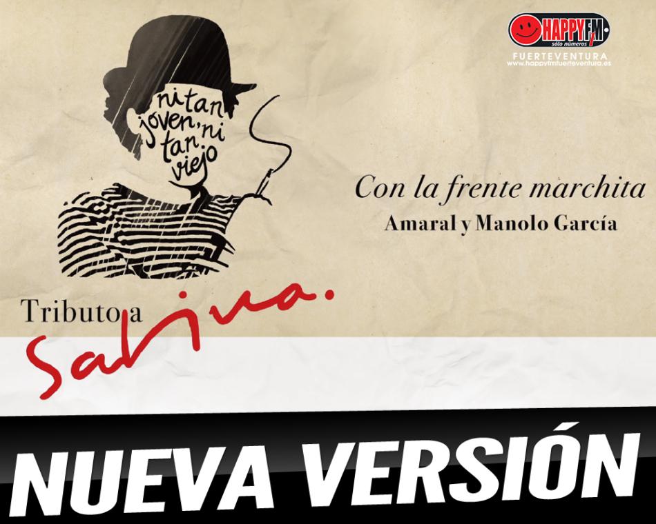 Ya puedes escuchar la versión de Manolo García y Amaral del tema de Joaquín Sabina «Con la frente marchita»