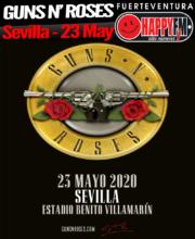 Único concierto de Guns N' Roses en Sevilla