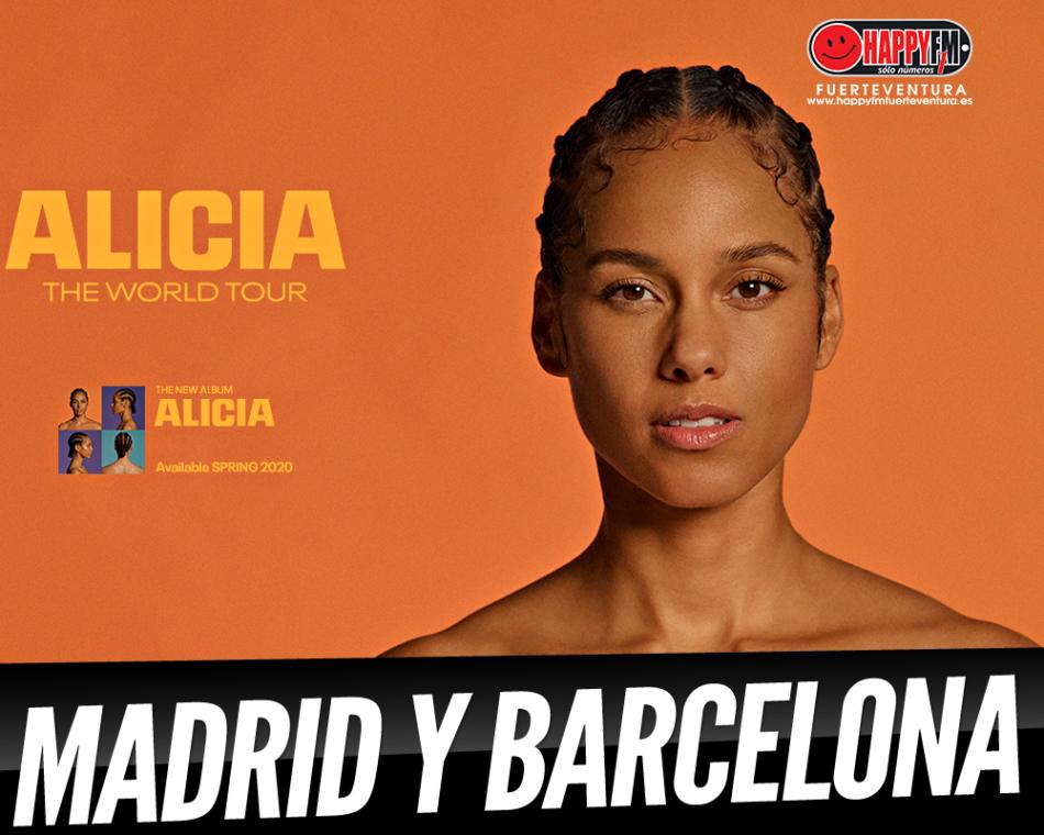 Alicia Keys pasará con su Tour por Madrid y Barcelona