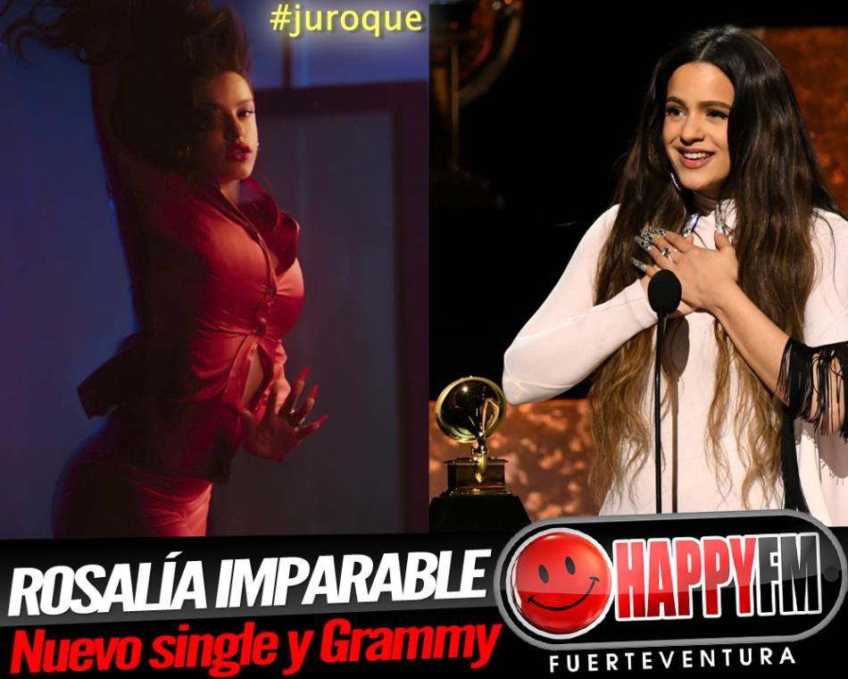 Rosalía imparable, estrena el single «Juro que» y recibe un Grammy