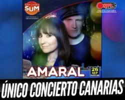 Único concierto de Amaral en Canarias