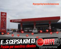 Despiértate Happy desde la Estación de Servicio Cepsa Km13 con amor