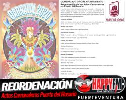 Nuevas fechas de los actos del Carnaval de Puerto del Rosario 2020