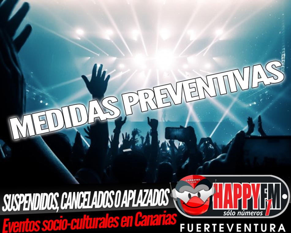 Cancelados, suspendidos o aplazados los eventos socio-culturales y deportivos en Canarias como medida preventiva