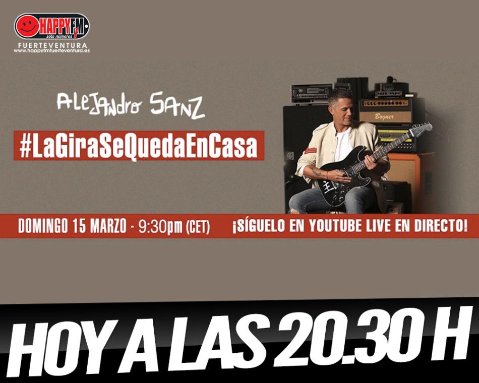 Hoy concierto en acústico de Alejandro Sanz en su canal de youtube