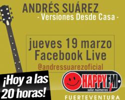 Hoy concierto de versiones de Andrés Suárez en Facebook