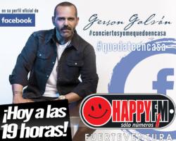 Esta tarde Gerson Galvan en directo a través de Facebook