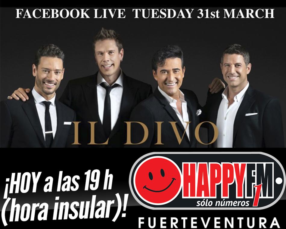 HOY Il Divo en directo en Facebook