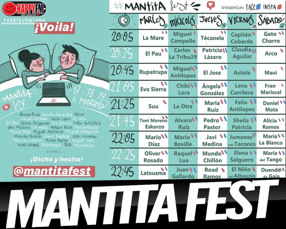 Nace el «Mantita Fest»…manta y música en vivo para disfrutar desde casa