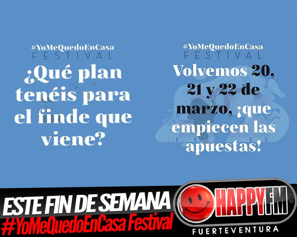 Este fin de semana nueva edición del #YoMeQuedoEnCasa Festival