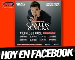 Carlos Rivera en acústico y directo en Facebook HOY