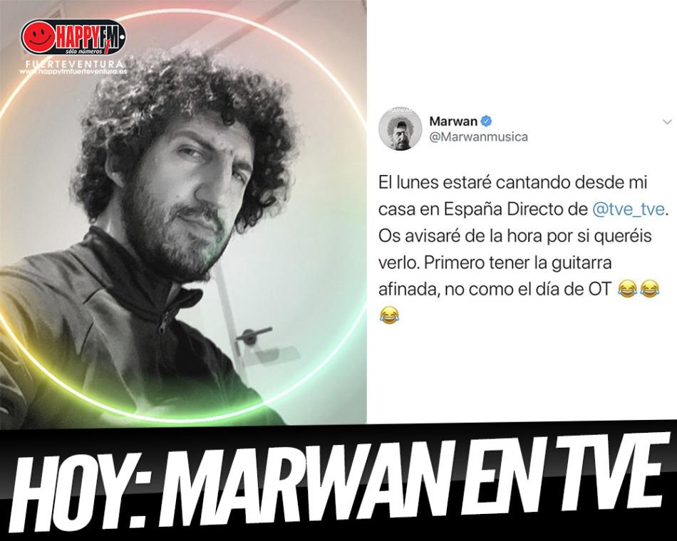 Hoy podrás ver a Marwan en televisión