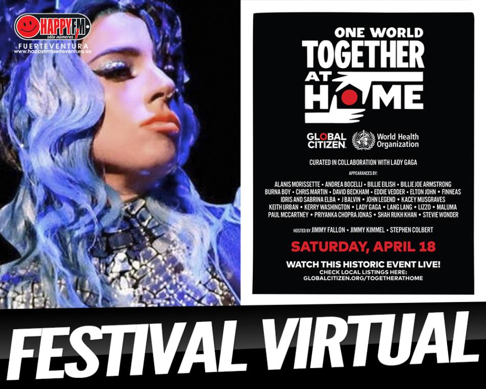 Lady Gaga organiza un festival virtual con Elton John y Paul McCartney, entre otros grandes artistas