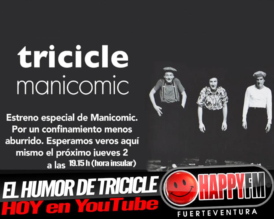 Tarde de humor con Tricicle y su espectáculo «Manicomic»