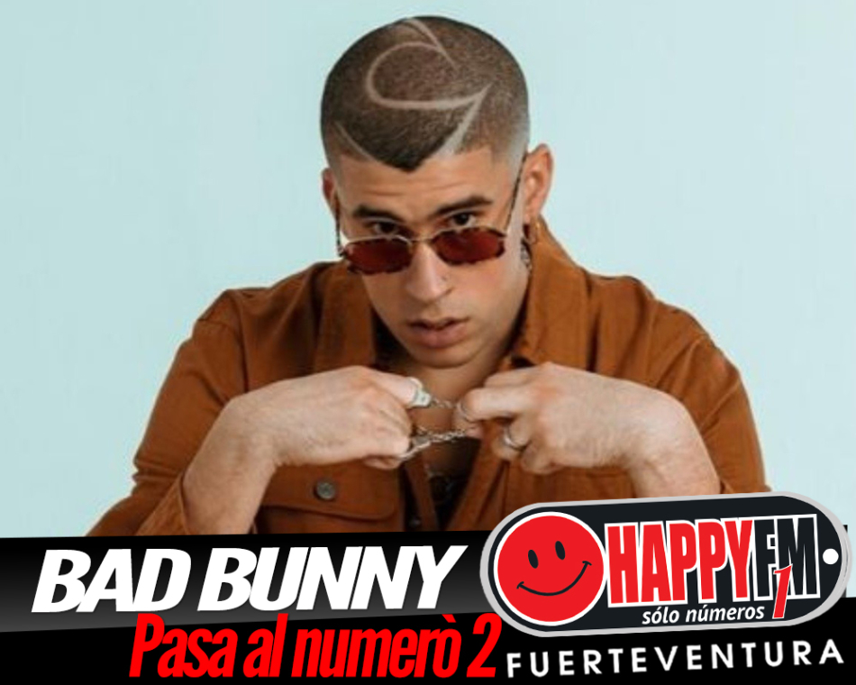 Bad Bunny pasa del puesto nº1 al puesto nº2 en España